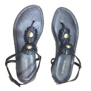 Black Liz Claiborne Sandals